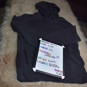 Tesla Black Large Hoodie Sweatshirt